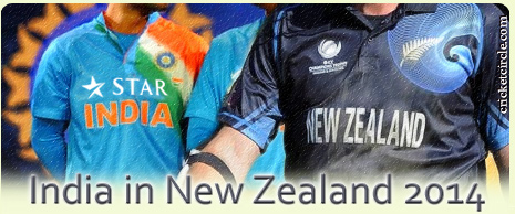 India vs New Zealand Cricket Series 2014